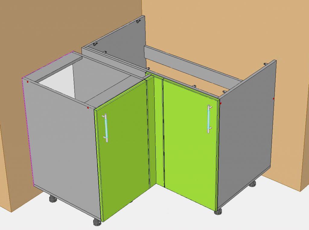 Конструкции кухонных шкафов